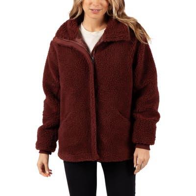Rip Curl Lumber High Pile Fleece Jacket, Red