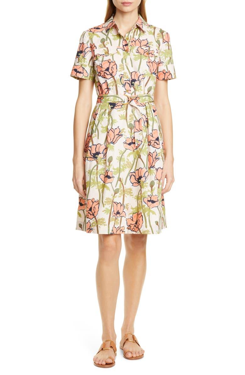 Floral Poplin Shirtdress by Tory Burch