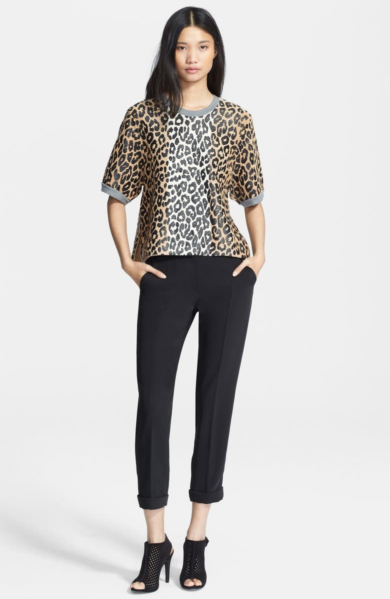 ELIZABETH AND JAMES Leopard Boxy Tee, Main, color, 250
