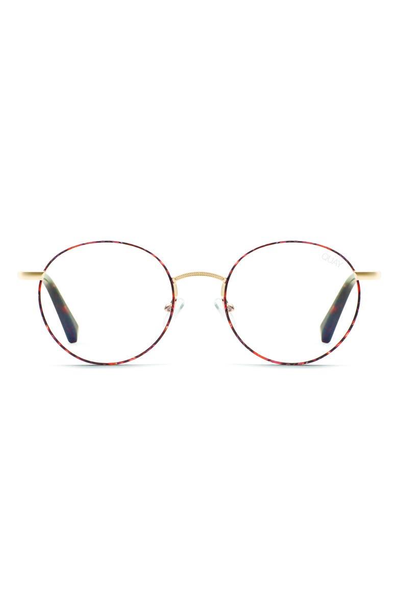 QUAY AUSTRALIA I See You 51mm Blue Light Blocking Glasses, Main, color, TORT/ CLEAR BLUE LIGHT