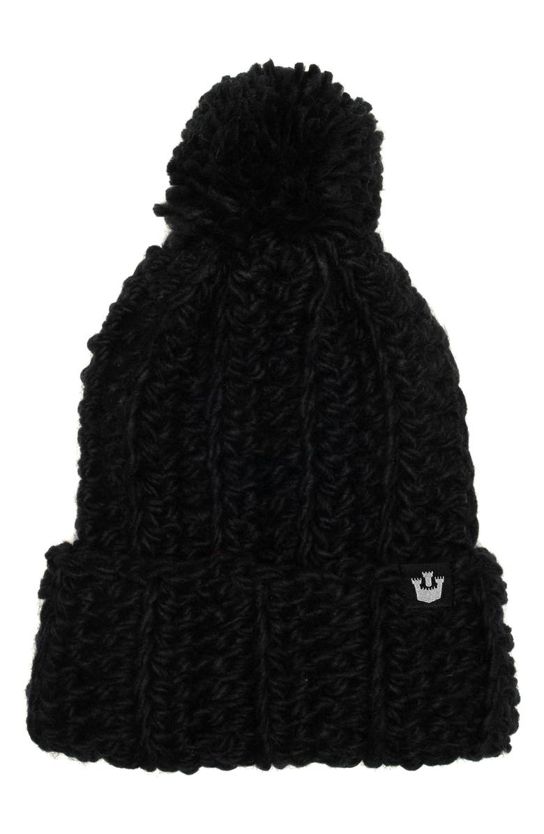 GOORIN BROS. Nippy Knit Beanie, Main, color, BLACK