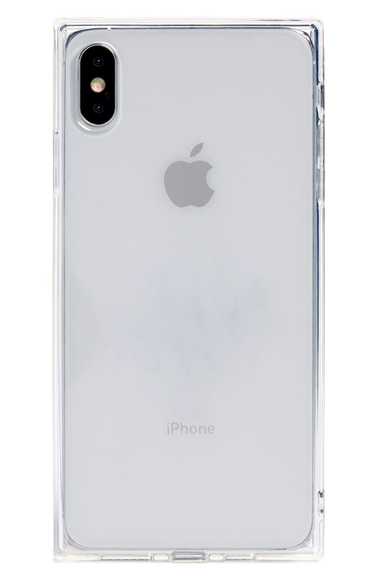 RECOVER Squared Clear iPhone X/Xs, Xs Max & XR Case, Main, color, CLEAR