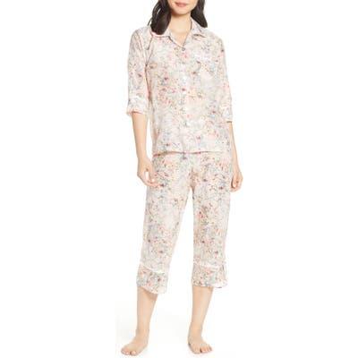 Papinelle Yolly Crop Cotton & Silk Pajamas, Pink