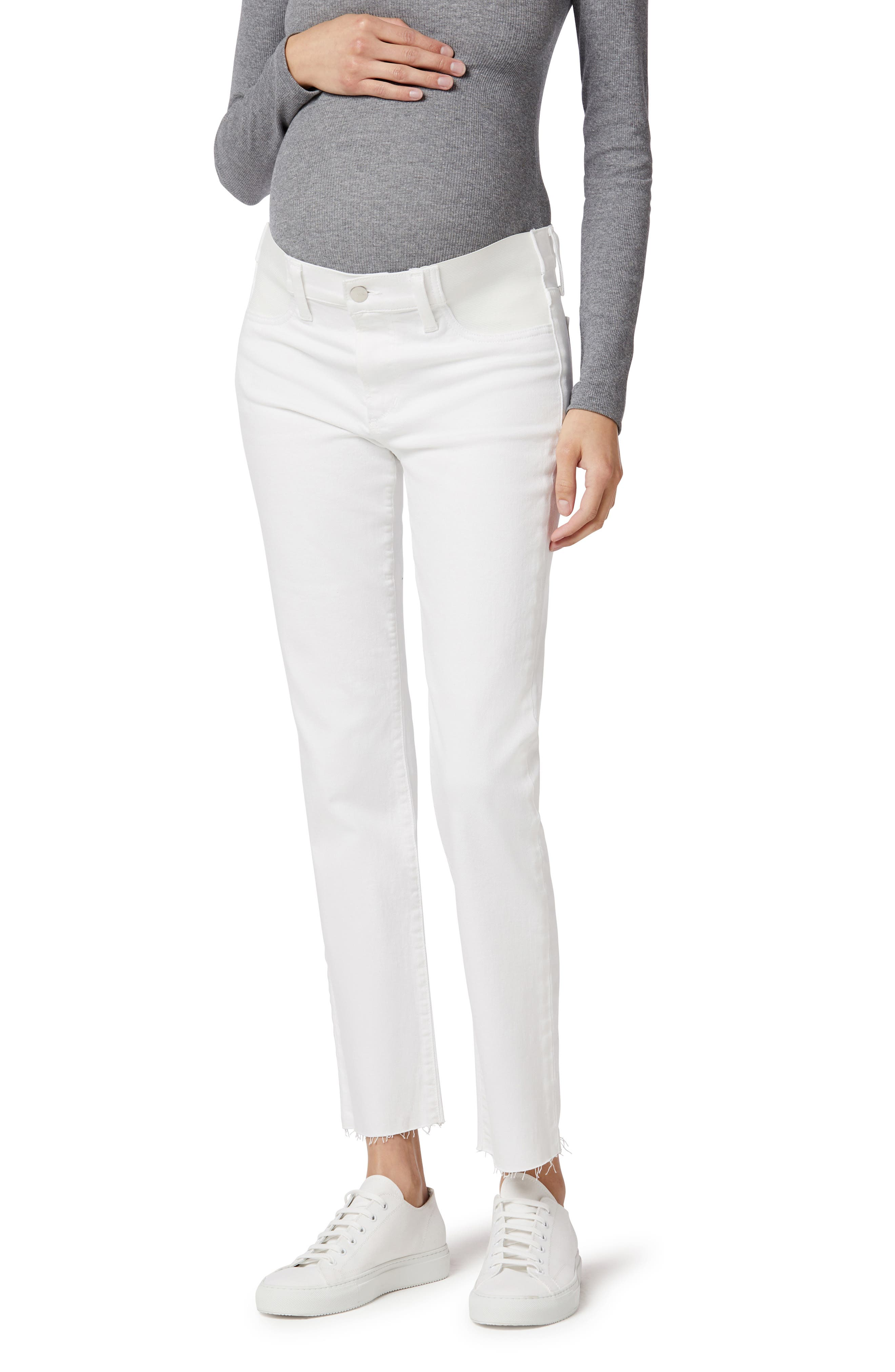 The Lara Fray Hem Ankle Maternity Jeans