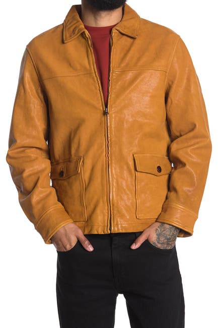 Image of ALEX MILL Leather Work Jacket