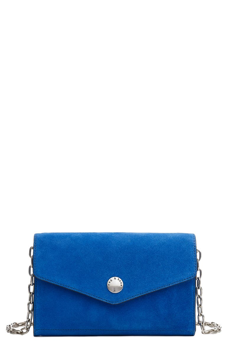 RAG & BONE Atlas Suede Wallet on a Chain, Main, color, 400