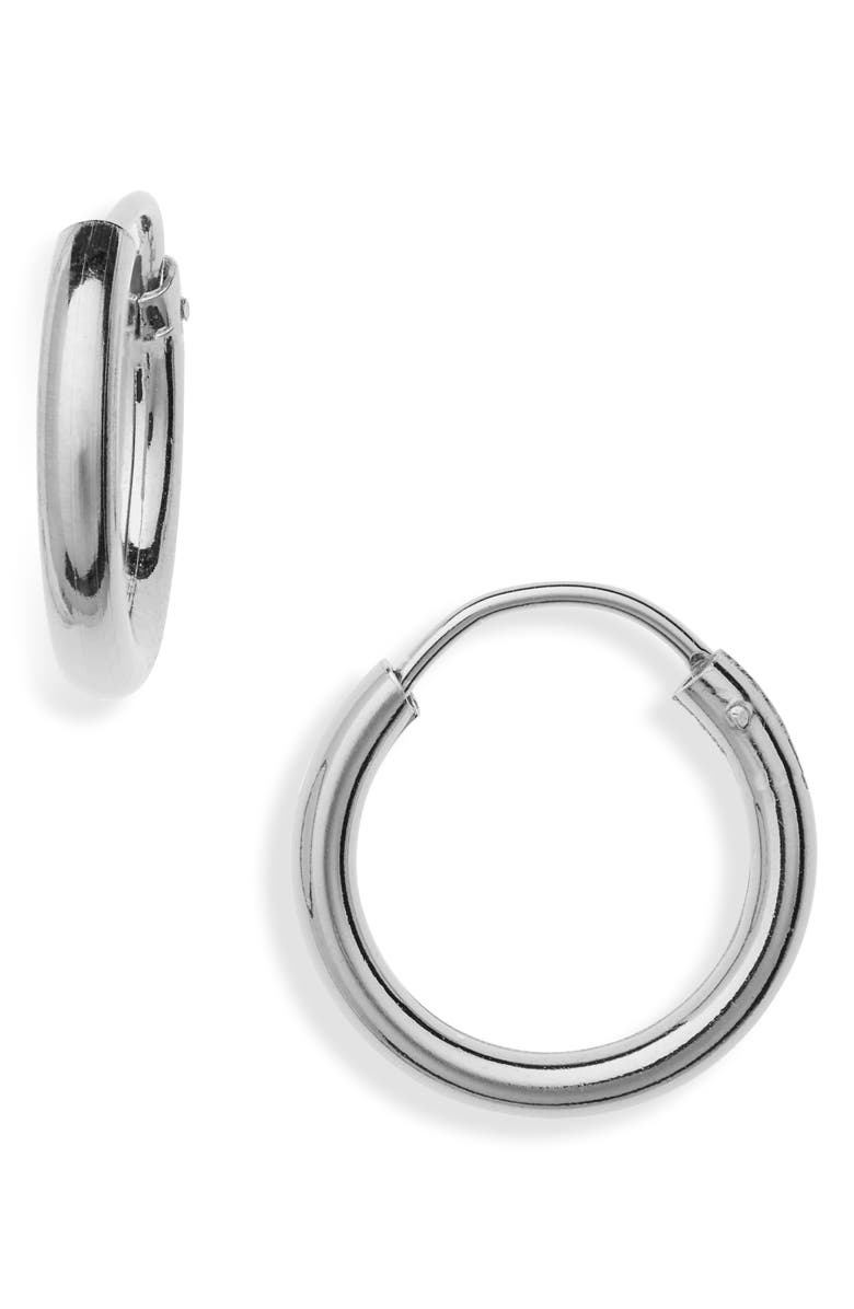 ARGENTO VIVO Milano Sterling Hoop Earrings, Main, color, SILVER