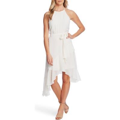 Cece Clip Dot High/low Sundress, White