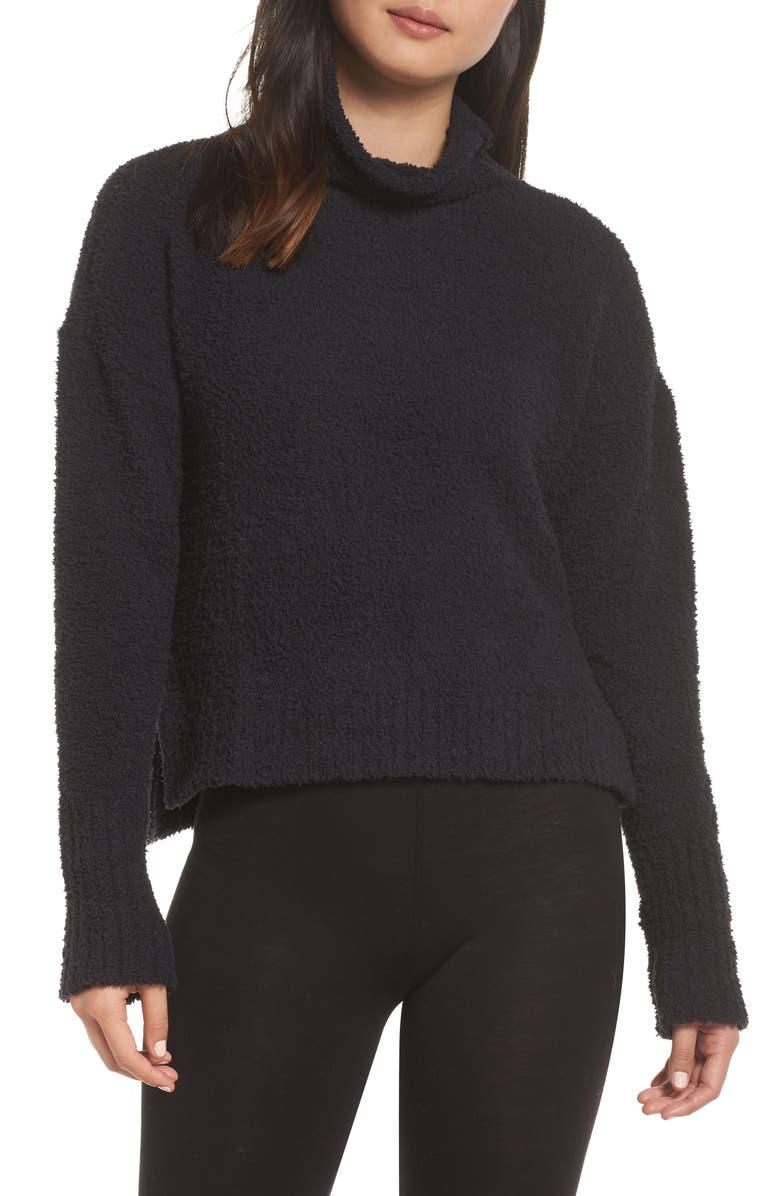 UGG<SUP>®</SUP> Sage Cowl Neck Pullover, Main, color, BLACK