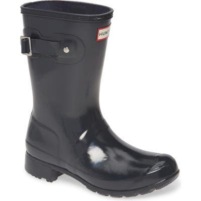 Hunter Original Tour Short Gloss Packable Rain Boot, Grey