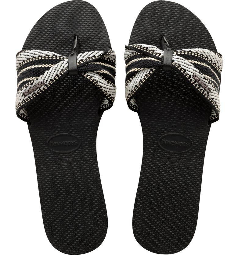 HAVAIANAS You St. Tropez Fita Sandal, Main, color, BLACK