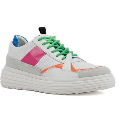Geox Phaolae Platform Sneaker, White
