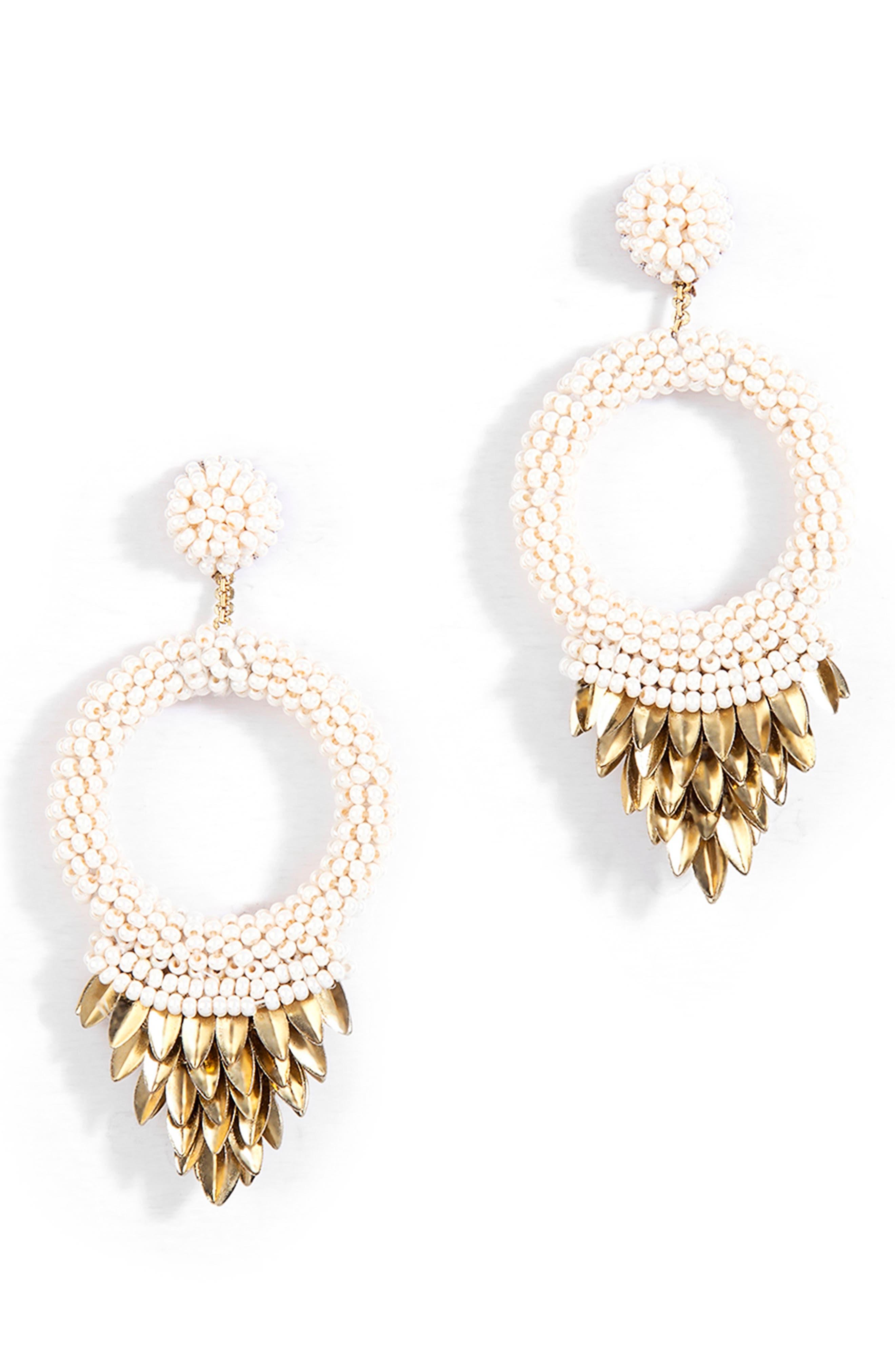 Franka Beaded Fringe Drop Earrings