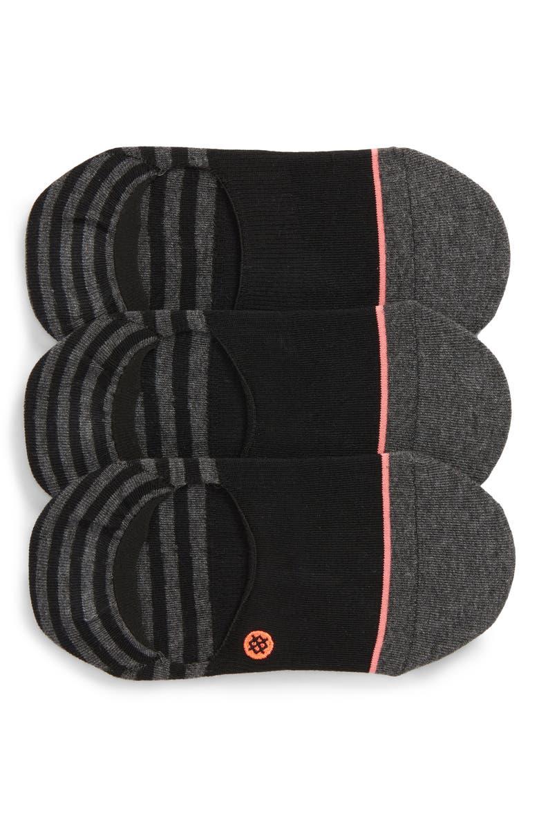 STANCE Sensible 3-Pack No-Show Socks, Main, color, BLACK