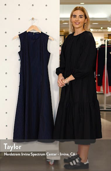 Pinstripe Midi Dress, sales video thumbnail