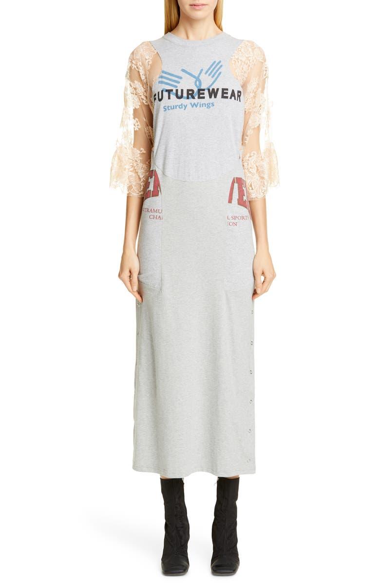 MARINE SERRE Upcycled Jersey Dress, Main, color, 020