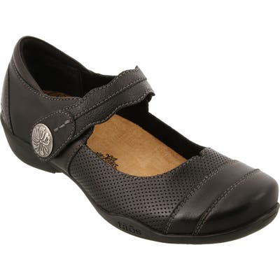 Taos Bravo Mary Jane Flat, Black