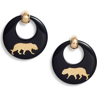 Gas Bijoux Tiger Hoop Earrings