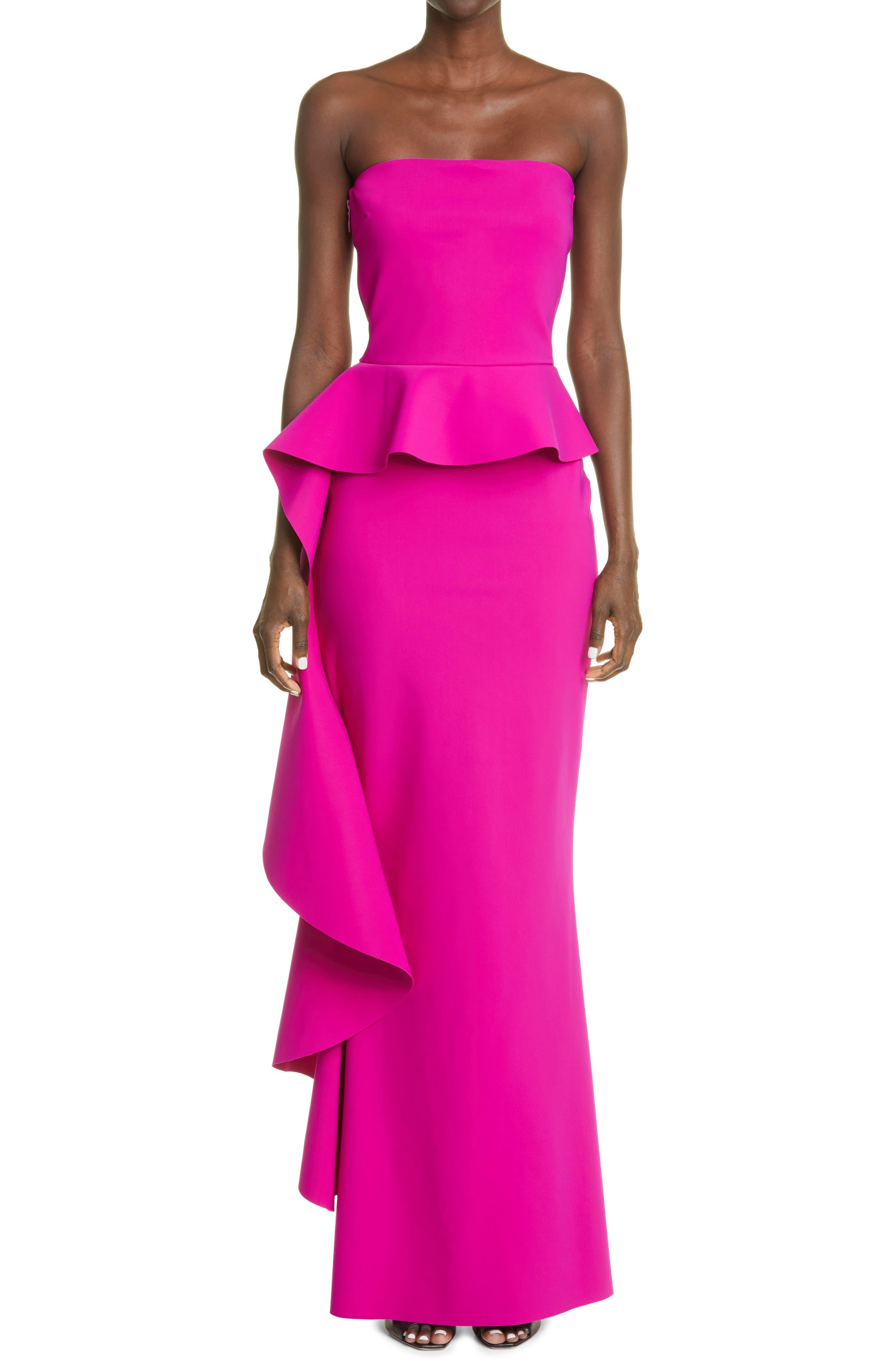 Eliska Ruffle Strapless Gown