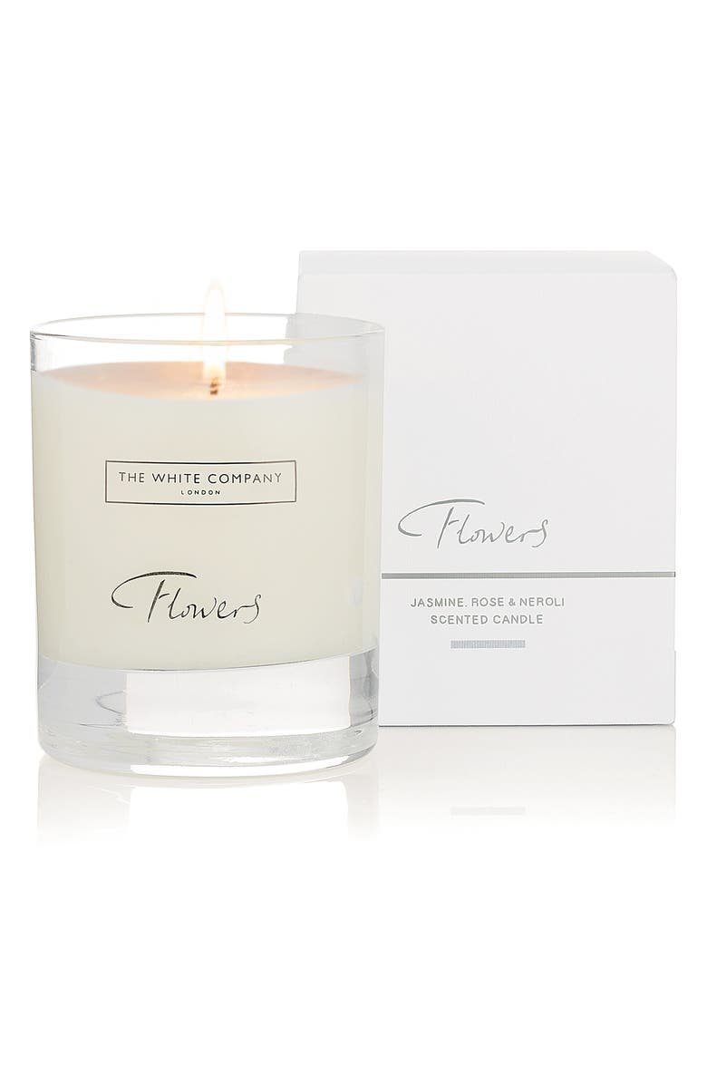 THE WHITE COMPANY Flowers Scented Candle, Main, color, 100