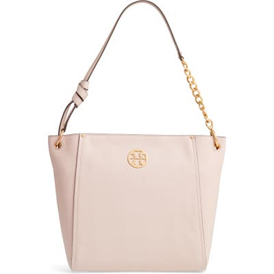 Tory Burch Everly Leather Hobo - Pink