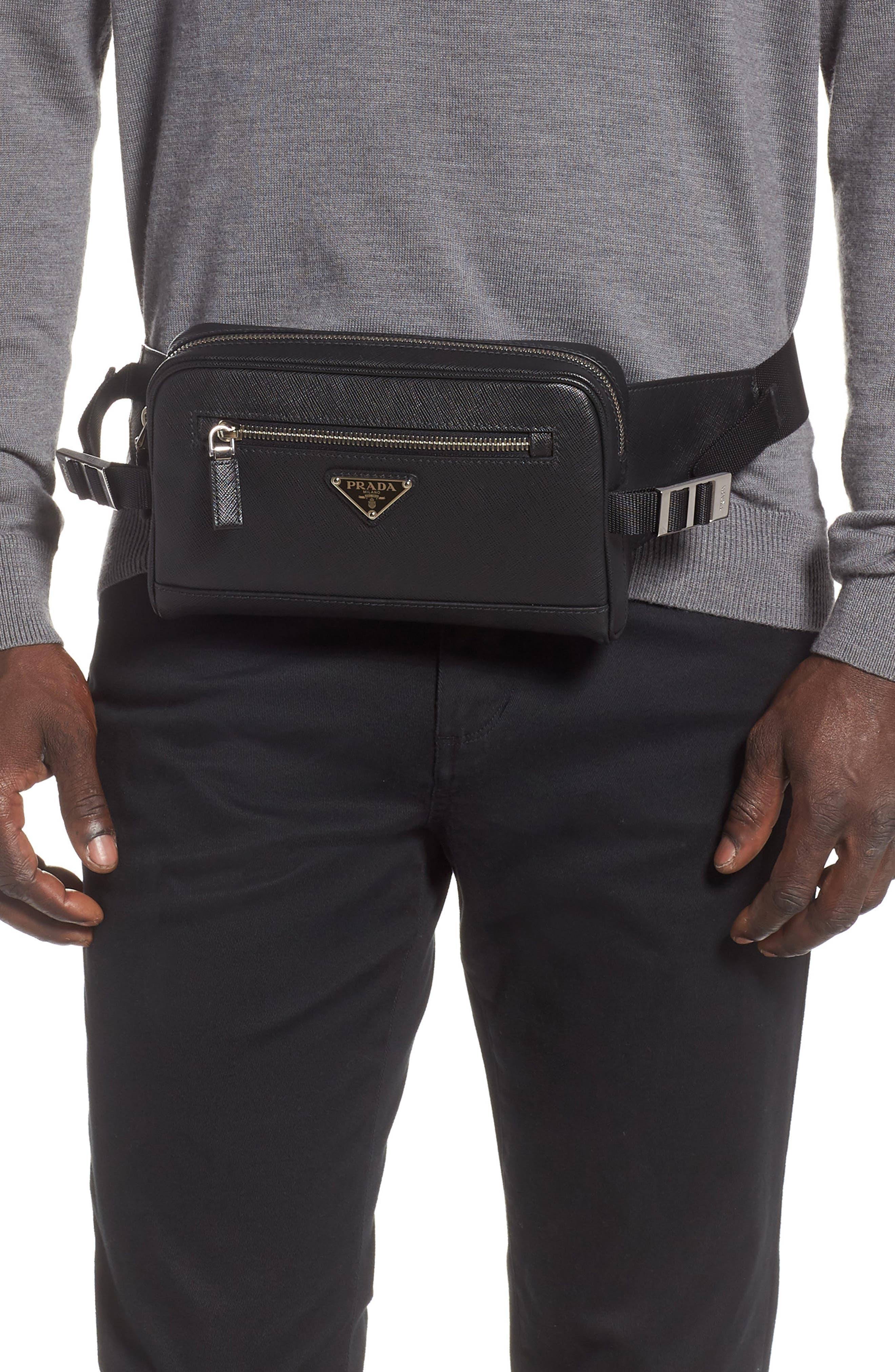 Prada Belt Saffiano Leather Belt Bag