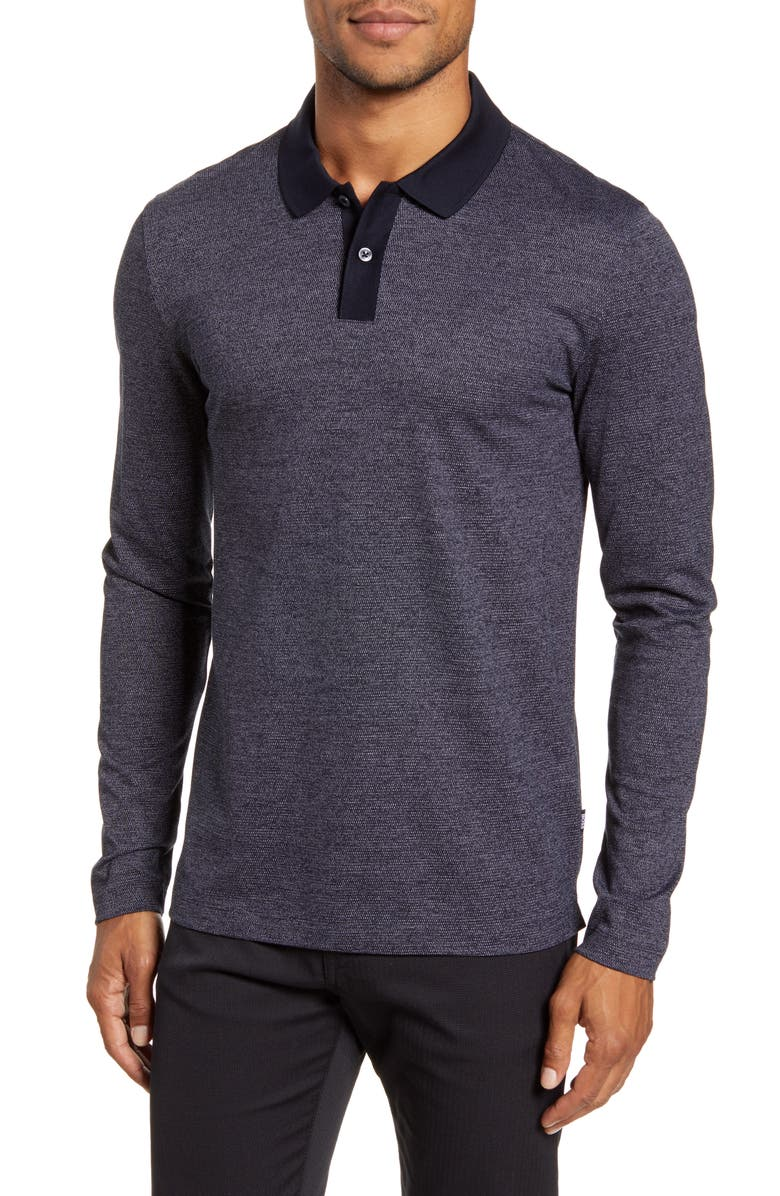 BOSS Paschal Long Sleeve Polo, Main, color, 402