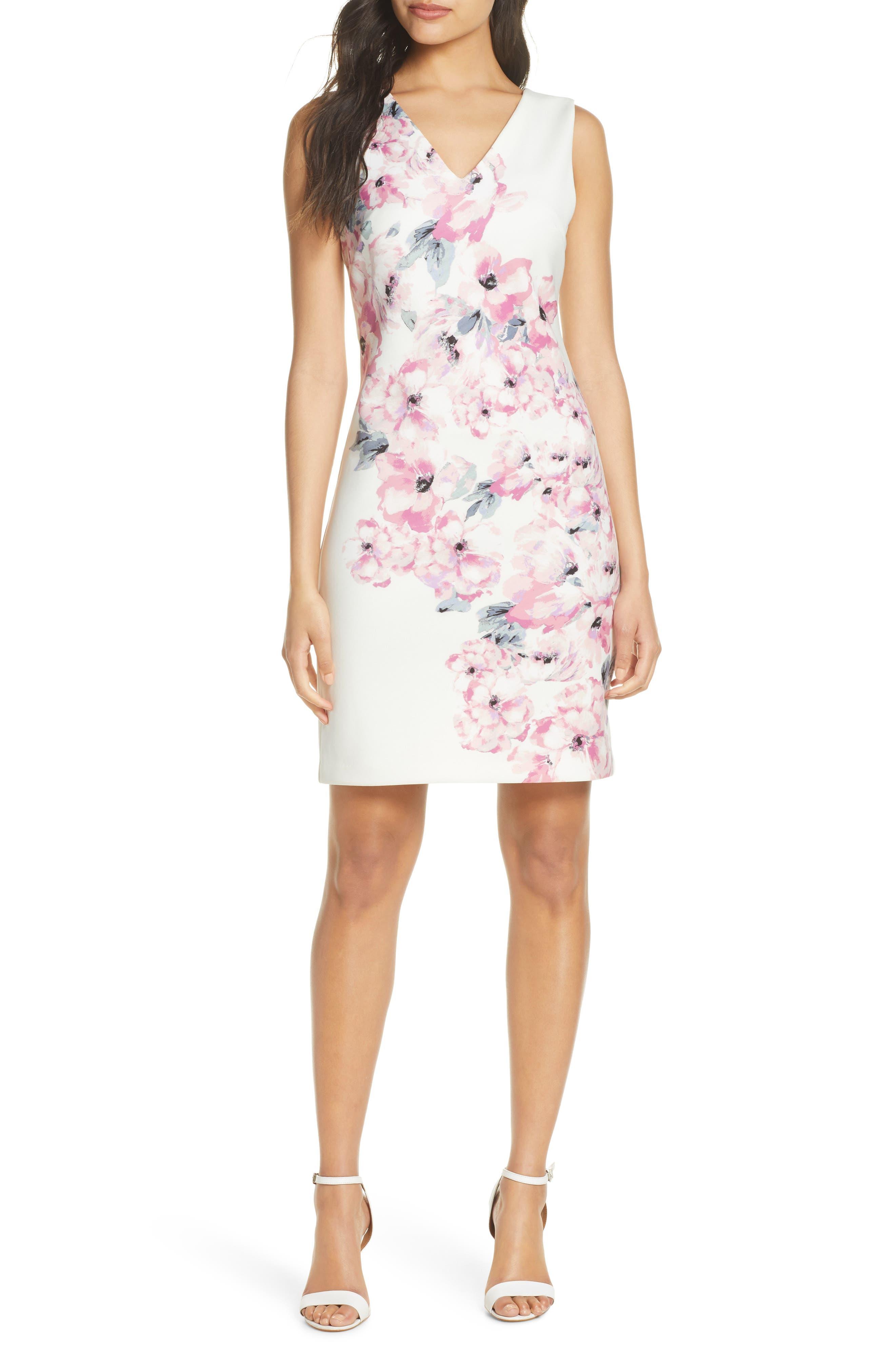 Floral Explosion Sheath Dress