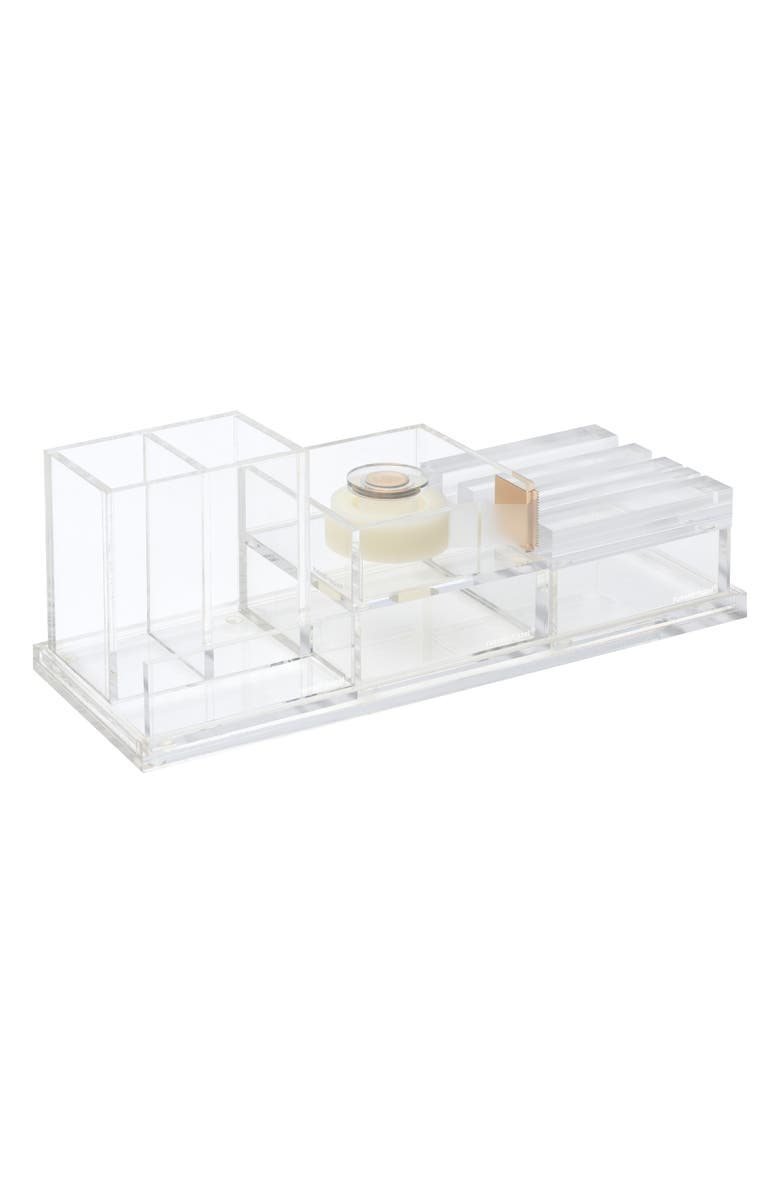 RUSSELL + HAZEL 6-Piece Desk Organizer, Main, color, CLEAR