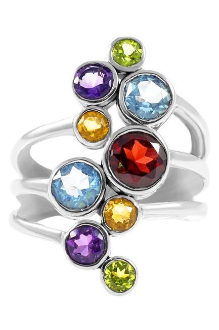 Image of DEVATA Sterling Silver Bali Mixed Gemstone Ring