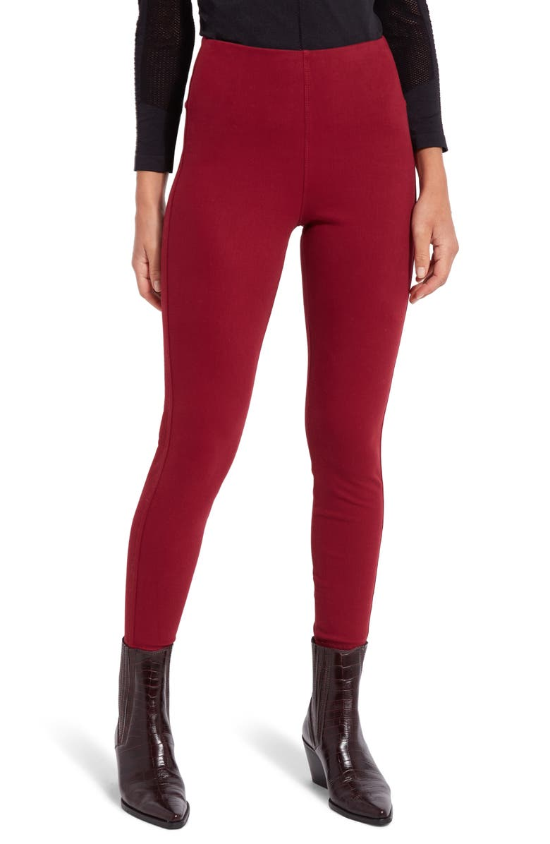 LYSSÉ Lyssè Toothpick Denim Leggings, Main, color, RUBY RED