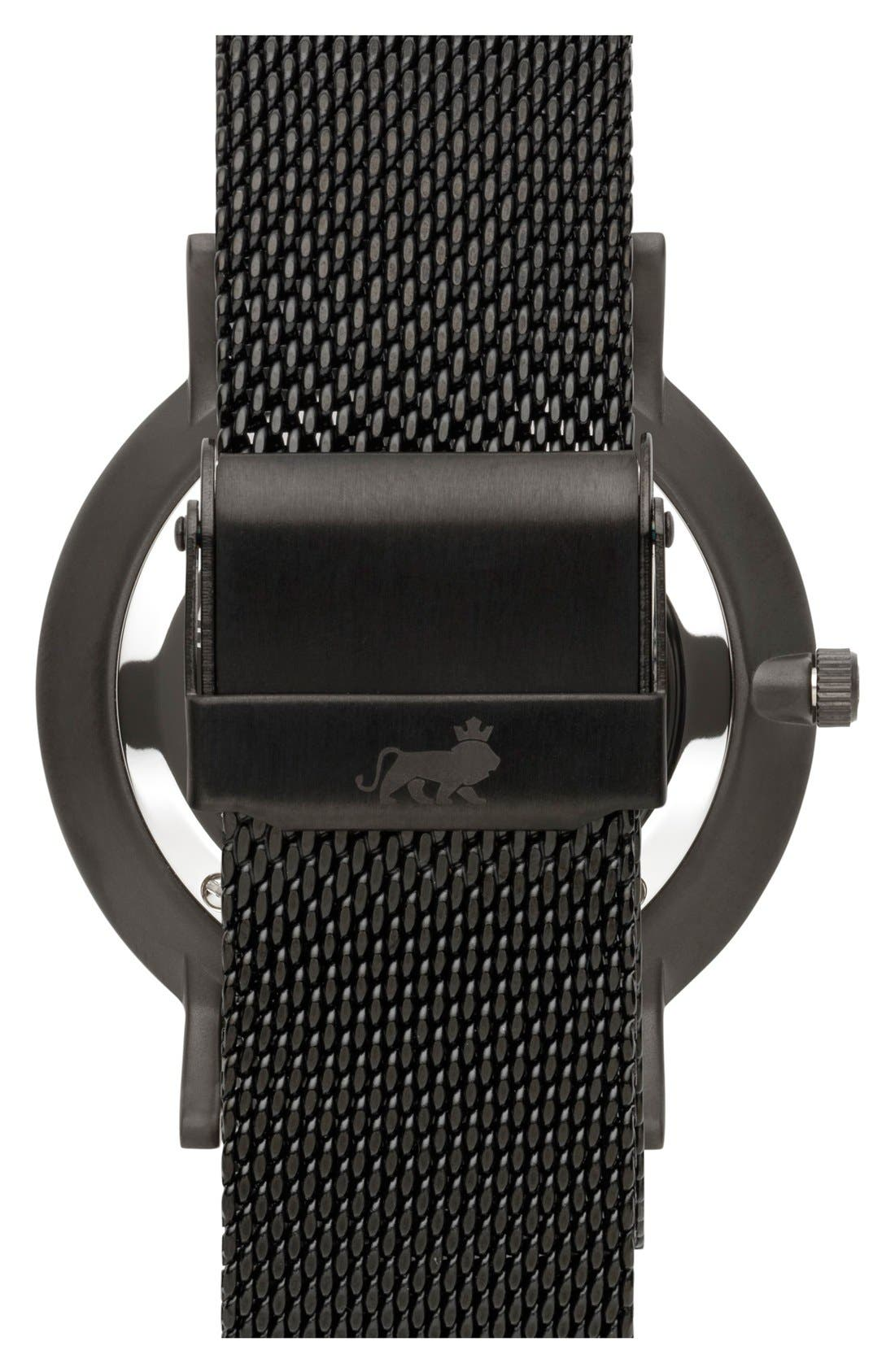 ,                             Lugano Mesh Strap Watch, 40mm,                             Alternate thumbnail 3, color,                             001