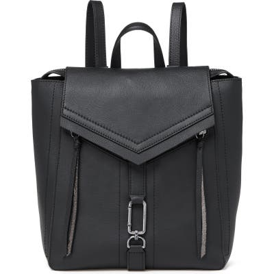 Botkier Trigger Leather Convertible Backpack - Black