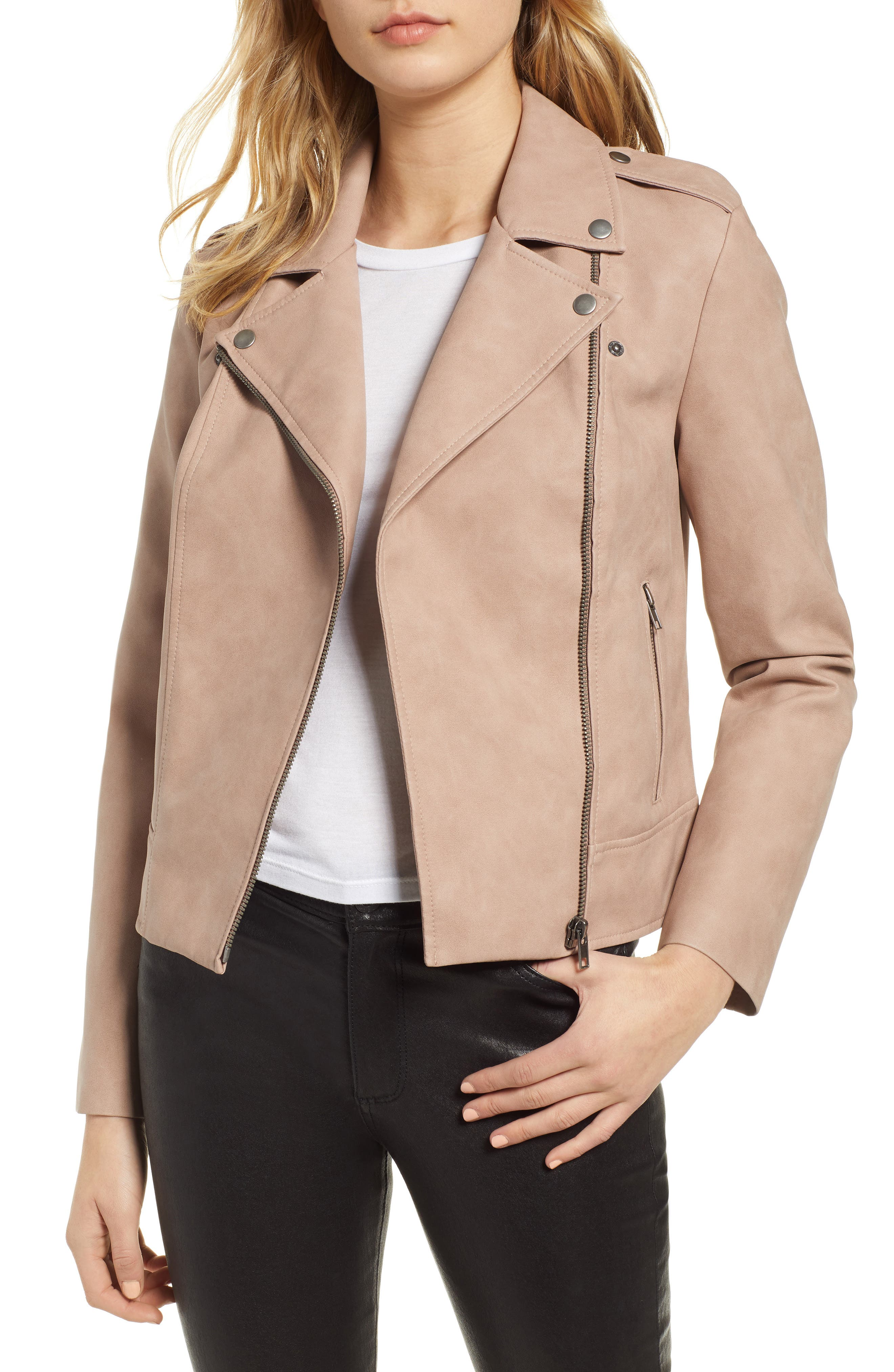 ,                             Easy Rider Faux Leather Moto Jacket,                             Main thumbnail 8, color,                             250