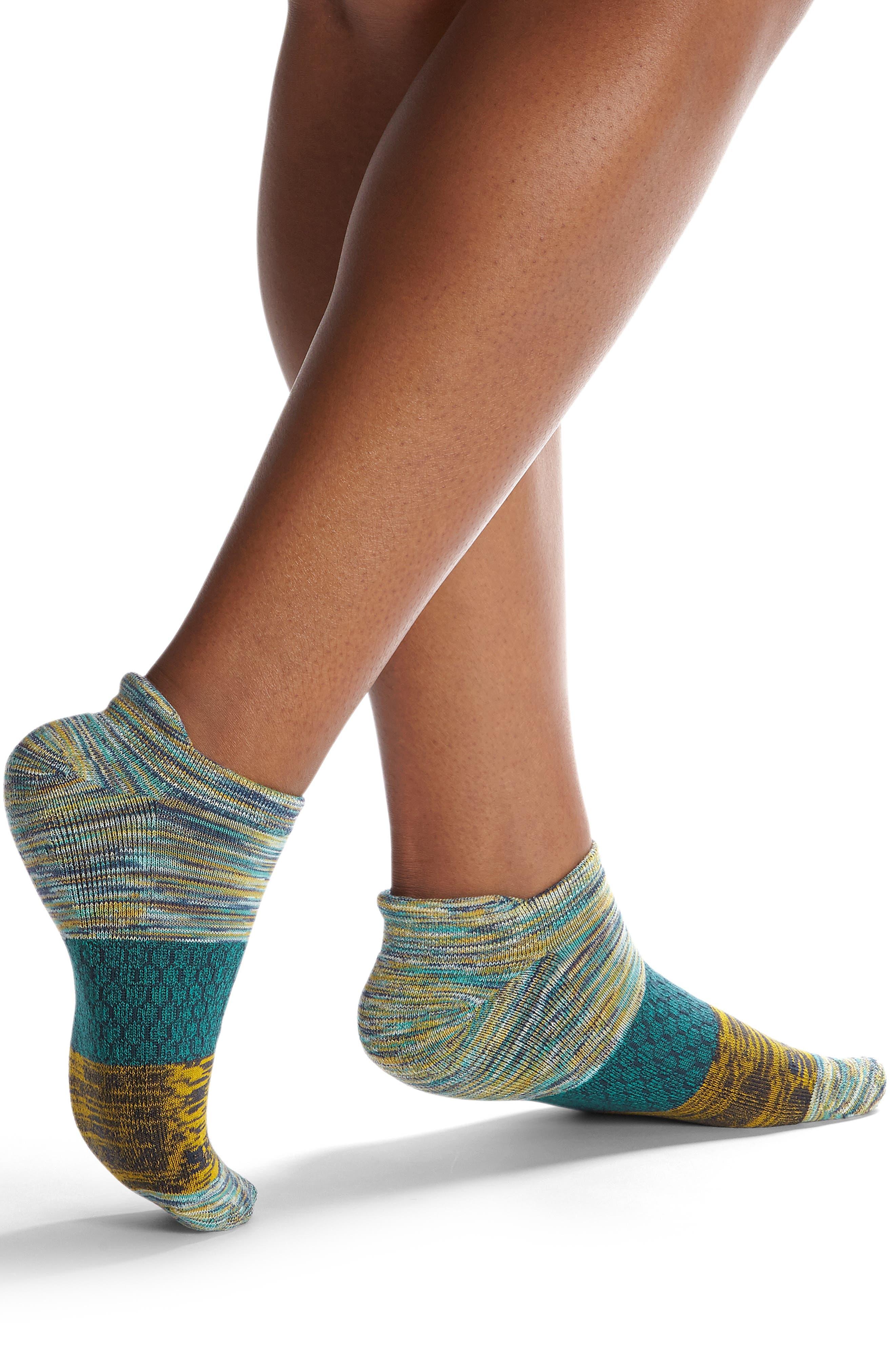Space Dye Tri-Block Ankle Socks