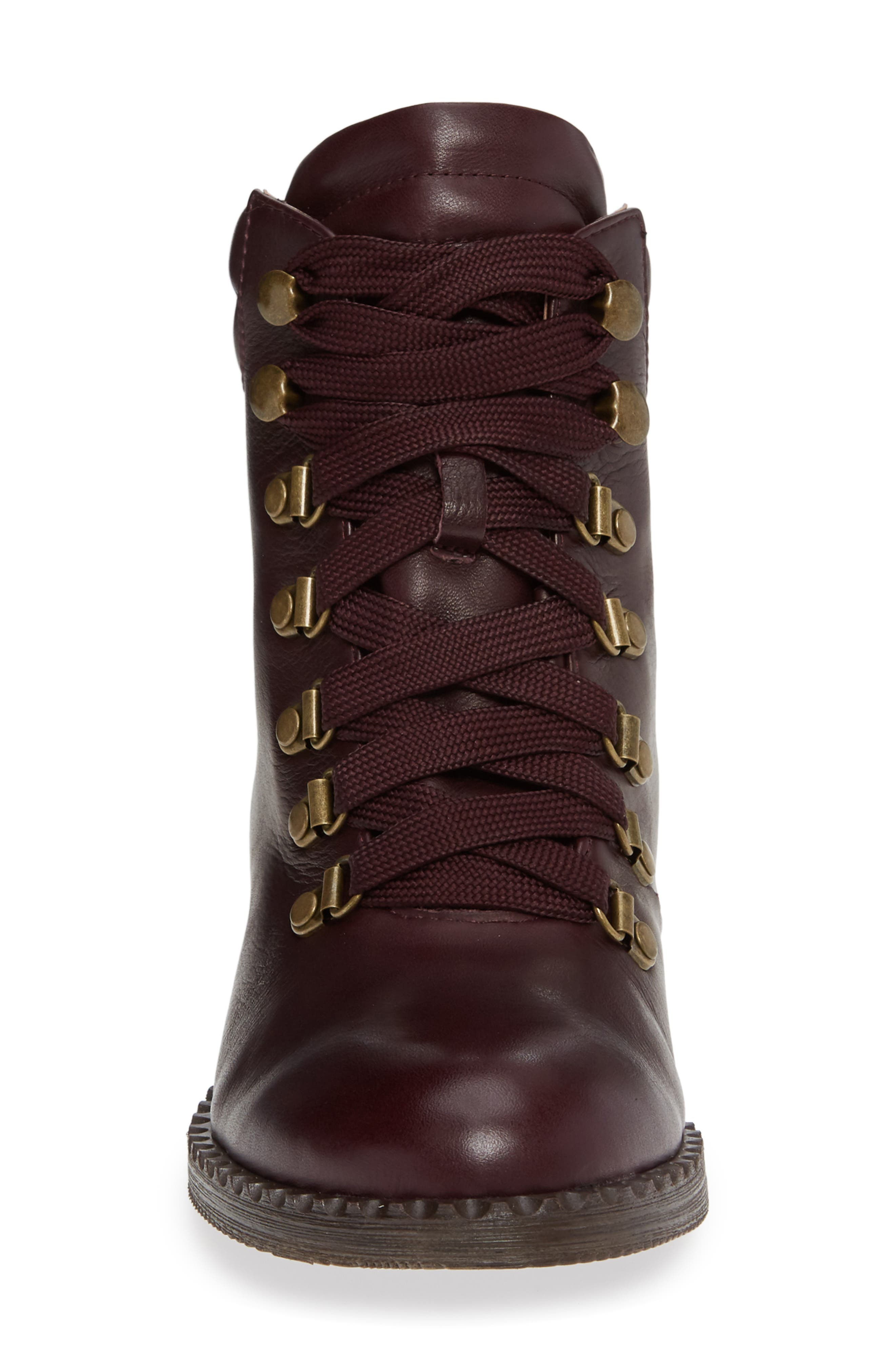 ,                             Brooklyn Combat Boot,                             Alternate thumbnail 4, color,                             OXBLOOD LEATHER