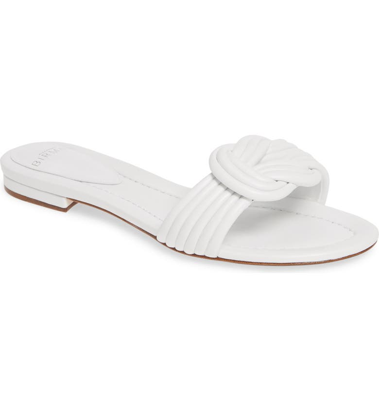 ALEXANDRE BIRMAN Vicky Knot Flat Sandal, Main, color, WHITE