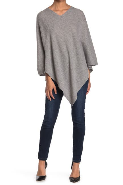 Image of AMICALE Cashmere Knit Poncho