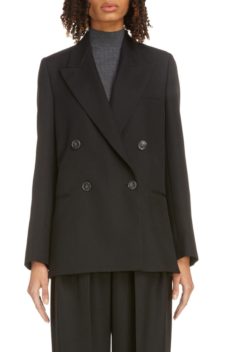 ACNE STUDIOS Double Breasted Suiting Blazer, Main, color, 001