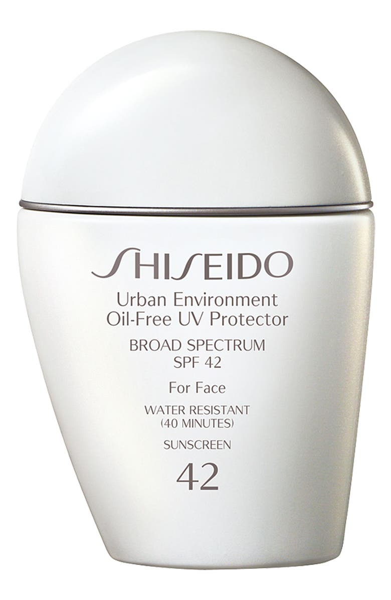 SHISEIDO Urban Environment Oil-Free UV Protector Broad Spectrum Sunscreen SPF 42, Main, color, NO COLOR