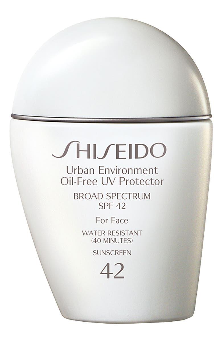 SHISEIDO Urban Environment Oil-Free UV Protector Broad Spectrum Sunscreen SPF 42, Main, color, NO COLOR