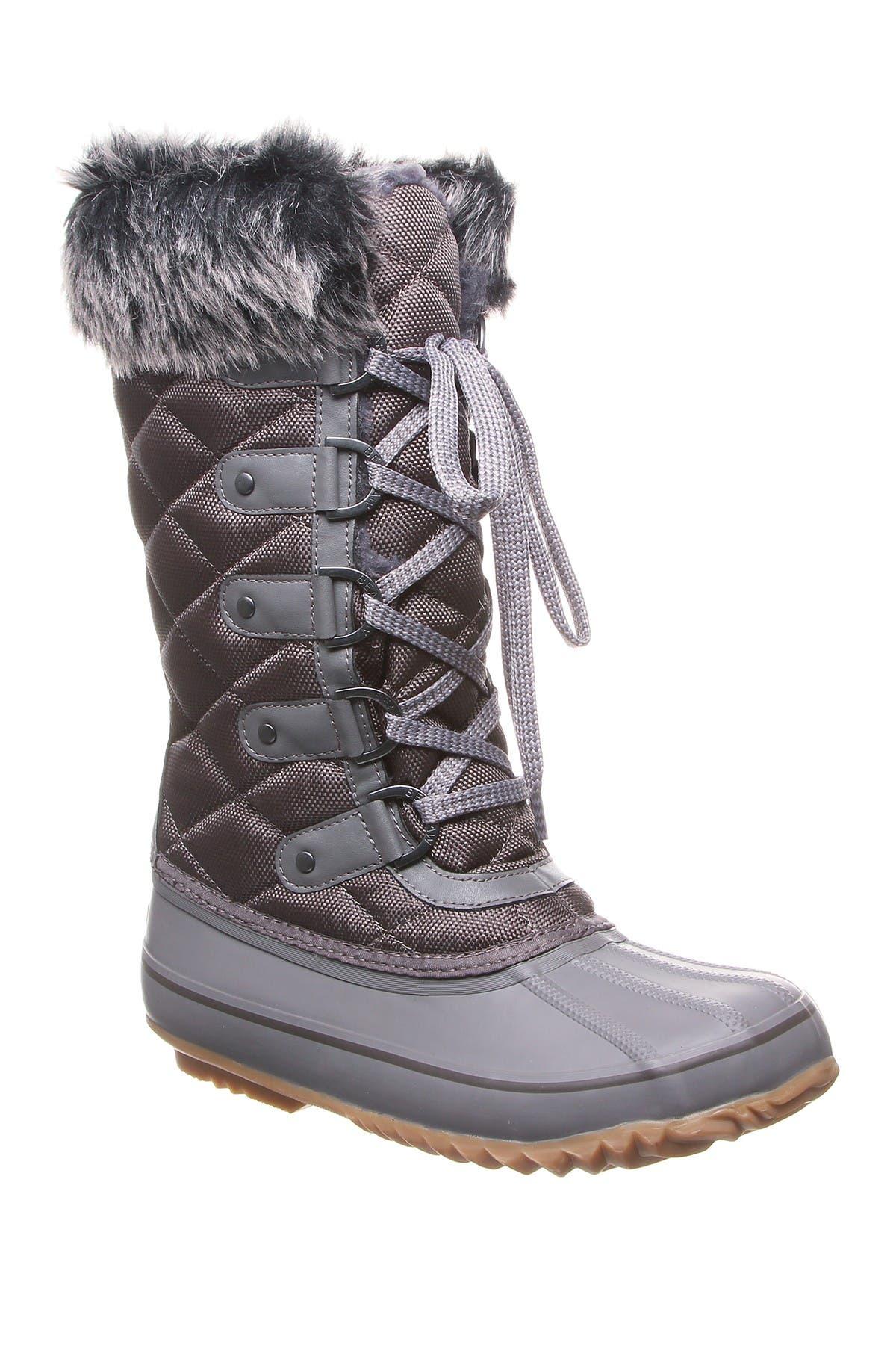 Image of BEARPAW McKinley Faux Fur & Genuine Sheepskin Waterproof Quilted Boot