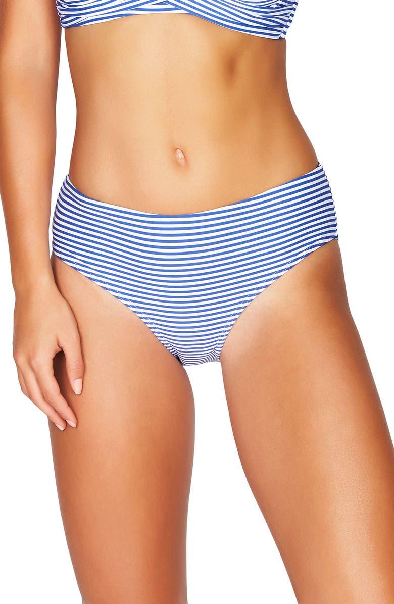SEA LEVEL Sorrento Stripe Bikini Bottoms, Main, color, FRENCH BLUE