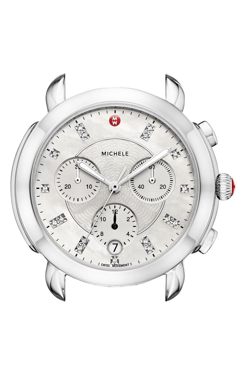 MICHELE Sidney Chronograph Diamond Watch Head, 38mm, Main, color, 040