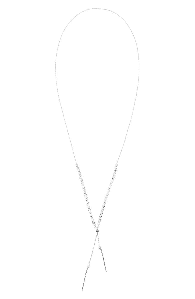 GORJANA Chloe Adjustable Necklace, Main, color, SILVER