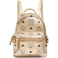 Deals on MCM X-Mini Stark Side Stud Coated Canvas Backpack