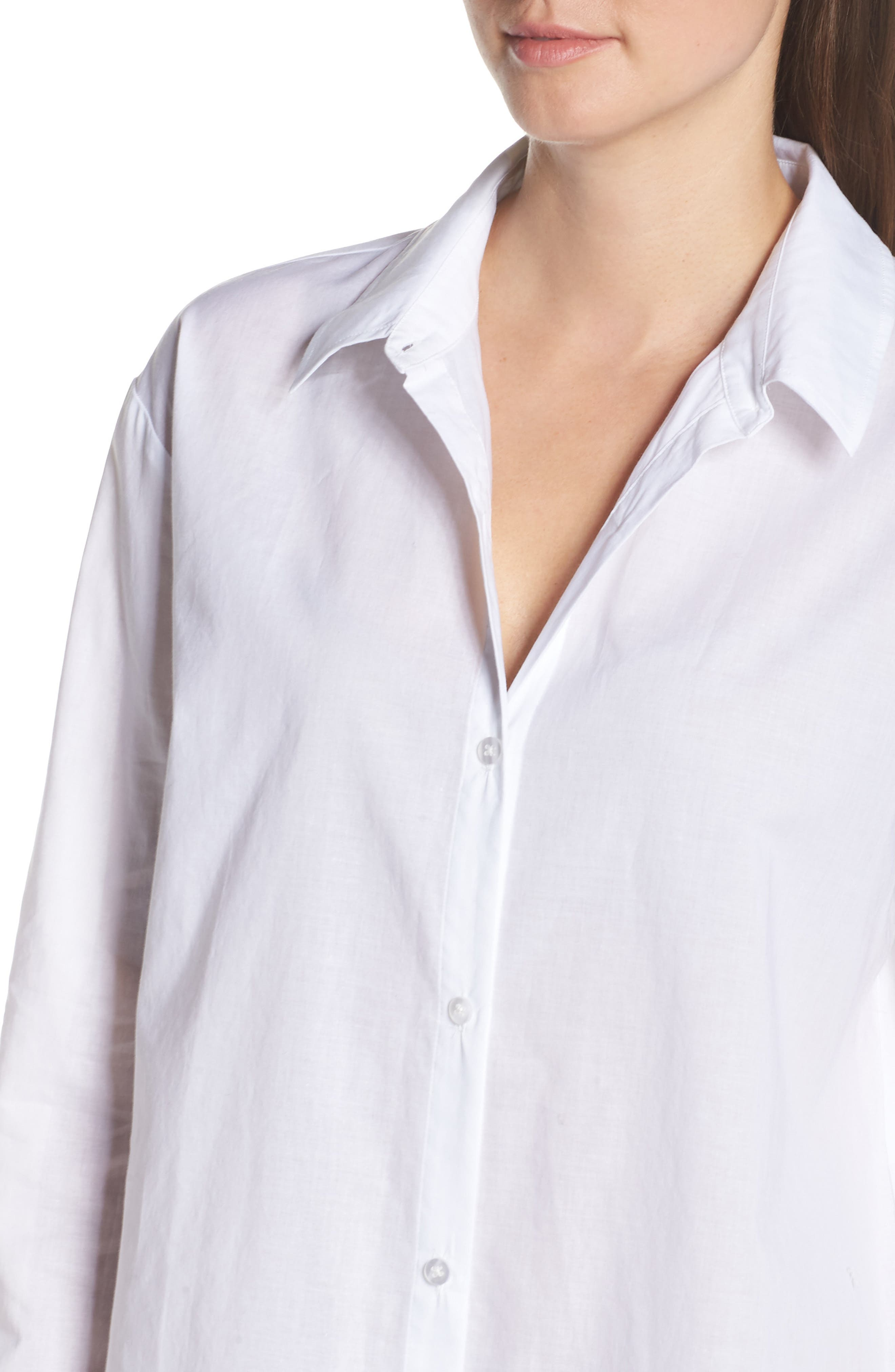 ,                             Cotton Nightshirt,                             Alternate thumbnail 6, color,                             WHITE