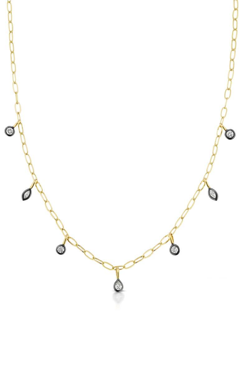 SORELLINA Diamond Pendant Necklace, Main, color, YELLOW GOLD