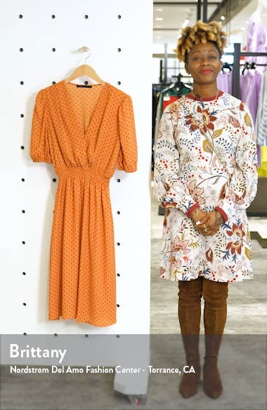 Smocked Waist Midi Dress, sales video thumbnail