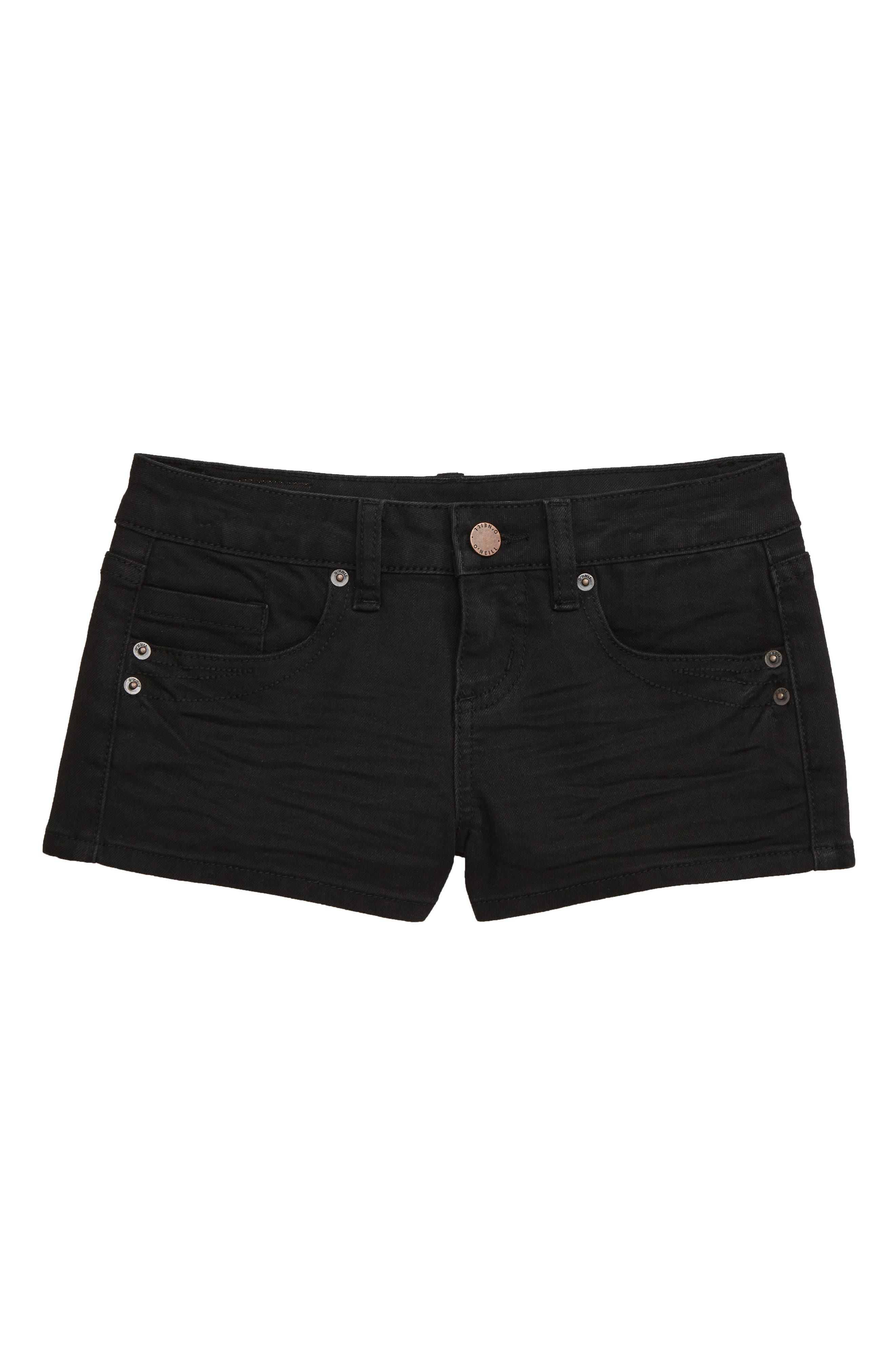 Girls ONeill Waidley 2 Denim Shorts Size 12  Black
